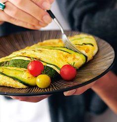 Omelette aux courgettes, à la menthe et au cumin Le Diner, Zucchini, Good Food, Food Porn, Vegetables, Cooking, Breakfast, Spice, Sugar