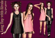 Long top with rivals by Gergana - Sims 3 Downloads CC Caboodle