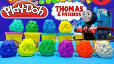 Thomas and Friends Play Doh Surprise Trains Toys Opening Thomas the Tank...