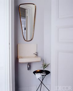 Small minimal white and gold bathroom