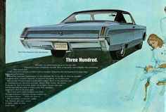 American & Canadian Illustrated Automobile Ads from 1960s-1970s