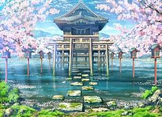 Fantasy World, Background, Anime Background, Anime Scenery, Visual Novel… Más Fantasy Art Landscapes, Fantasy Landscape, Landscape Art, Beautiful Landscapes, Landscape Background, Animation Background, Art Background, Fantasy Background, Anime Backgrounds Wallpapers