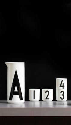 Via Design Letters | Ceramics ... Arne Jacobsen vintage typography - we love!