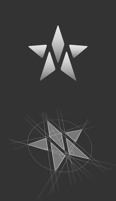 M star logo construction. Logo design by Jan Zabransky.
