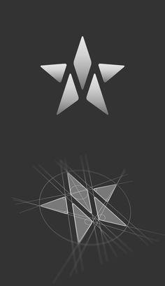 M star logo construction. Logo design by Jan Zabransky.
