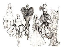 Vikki Yau Fashion illustration for Alexander McQueen: Savage Beauty Exhibition