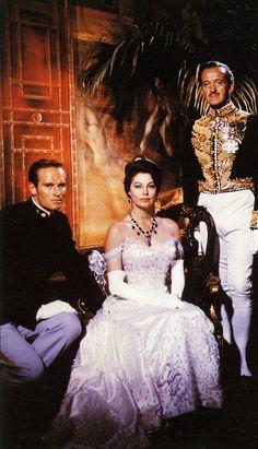 Charlton Heston, Ava Gardner and David Niven 55 Days at Peking (1963)