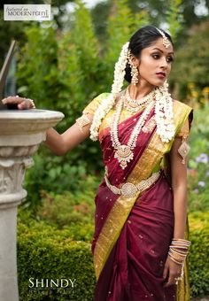 South Indian Bridal Look- more inspiration @ http://www.ModernRani.com themarriedapp.com hearted <3 #bollywoodbride #indianwedding #desi