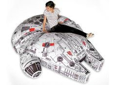 I found 'Millennium Falcon Bean Bag Chair' on Wish, check it out! Want this for my eldest son!