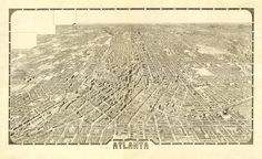 Vintage Map  Atlanta Georgia 1919 by Imagerich on Etsy, $30.00