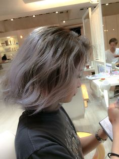 My Work..  Ombre Gray Hair Color  TEL 0337966526  http://beauty.hotpepper.jp/smartphone/slnH000297847/stylist/T000268895/
