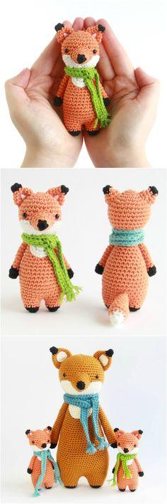 Mini Fox pattern by Little Bear Crochets: http://www.littlebearcrochets.com #amigurumi #crochet