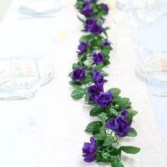 6 feet Purple Chain Garland with Silk Roses Rose Garland, Greenery Garland, Diy Garland, Purple Wedding Decorations, Artificial Flowers And Plants, 1 Rose, Home Wedding, Rustic Wedding, Plastic Flowers