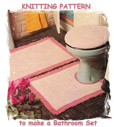 Instant Download PDF Vintage Seventies Knitting pattern to make a Woven Tweed Look Bathroom Mat  Rug Toilet Seat Cover Retro Kitsch Rustic on Etsy, 3,92$ CAD