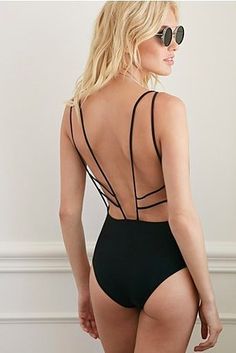 Strappy Open-Back One-Piece, Forever 21, $22.90 | 37 Sexy One Pieces You'll Want To Rock All Summer