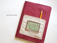 DIY Felt Composition Cover with Embroidered Pocket Tutorial from Wild Olive here. The embroidery pattern is for sale here, but you can do any embroidery design you want, or none at all. Did anyone else get the $.10 composition books on sale at Staples? I did to try out the chalkboard paint tutorial at the link below. A while ago I was asked if I could post more school book covers so here are more good ideas: truebluemeandyou.tumblr.com/tagged/book-jackets