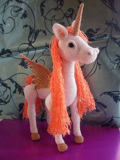 Awww, but I just want it already made... - http://www.etsy.com/listing/154318461/unicorn-pegasus-horse-toy-crochet