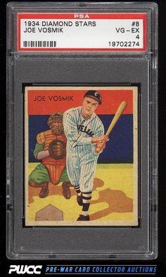 1934 Diamond Stars Joe Vosmik #8 PSA 4 VGEX (PWCC)