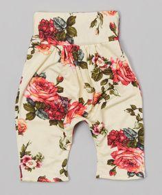 Another great find on #zulily! Ivory Roses Harem Pants - Infant, Toddler & Girls by LittleVMen #zulilyfinds