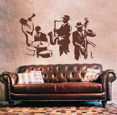 kik200 Wall Decal Sticker music jazz singer musician bedroom Club lounge