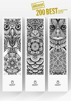 'Long Eared Owl' - one of three illustration commissions for Hoot Watches.Awarded top 200 Packaging Design Worldwide 2017/18 by Lürzer's Archive.