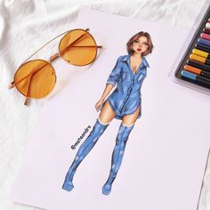A imagem pode conter: 1 pessoa Dress Design Sketches, Fashion Design Sketchbook, Fashion Design Drawings, Fashion Model Sketch, Fashion Sketches, Fashion Models, Fashion Outfits, Fashion Drawing Dresses, Fashion Illustration Dresses