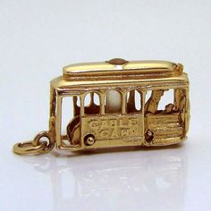 Vintage 14K Gold 3D Movable San Francisco Cable Car Trolley Charm from charmalier on Ruby Lane