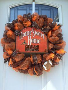 Cleveland Browns deco mesh wreath