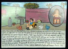 Exvoto de Lupita Anacleto de 1987 en el que agracede al santo que su marido no descubriese nunca que un día le pegó a su suegra.