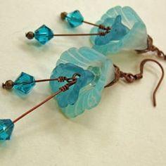 Bead Bazaar - Bellingham, WA, United States. Lucite flower bead earring project.
