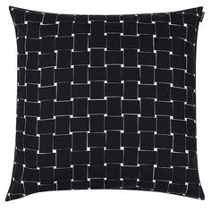 Marimekko Basket cushion cover, black, white, Carina Seth Andersson designer
