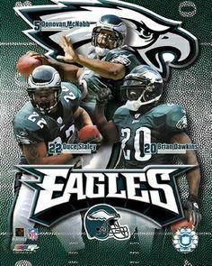 Philadelphia Eagles QB Donovan McNabb, RB Duce Staley & S Brian Dawkins
