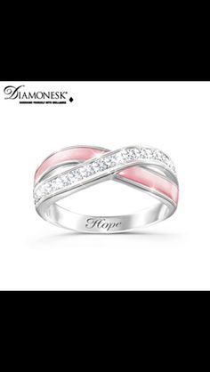 Breast cancer ring- in memory of my grandmother who lost her battle to cancer. Love you ♥
