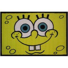 Fun Rugs Nickelodeon Spongebob Head Kids 19 Inch X 29 Rug Yellow