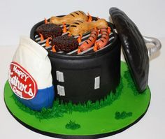 I would love to have a cake like this for my dad. He would LOVE it because he truly loves grilling out.  http://beautyloveri.blogspot.de/ IG  beautyloveri