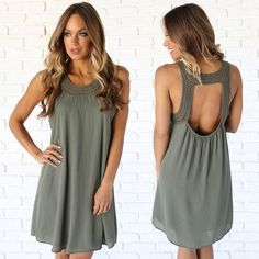 My Only Love Shift Dress In Olive  www.daintyhooligan.com