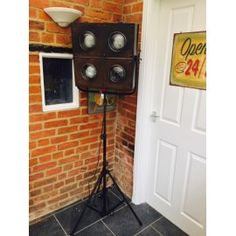 Mohawk Aircraft Tripod floor lamp industrial style hand made light Industrial Floor Lamps, Vintage Industrial Lighting, Industrial Pendant Lights, Retro Lighting, Industrial Style, Pendant Lighting, Ceiling Pendant, Ceiling Lights, Lighting Companies