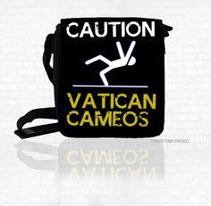 "SHERLOCK  ""Vatican Cameos!""  *New* Small Messenger Bag Great Gift Sherlock Holmes by ConsultingFanGeeks on Etsy https://www.etsy.com/listing/169941736/sherlock-vatican-cameos-new-small"