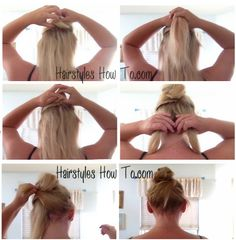 Messy Hair Bun Wrap Tutorial