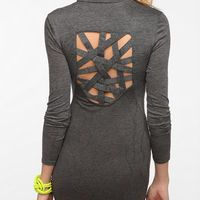 Sparkle & Fade Open Back Sweater Knit Dress