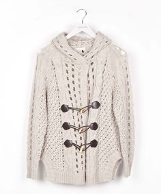 Look what I found on #zulily! Beige Toggle Wool-Blend Cardigan #zulilyfinds