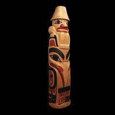 Raven Steals Box of Light from Sky Chief Totem by Tim Boyko Coastal Peoples Fine Arts Gallery