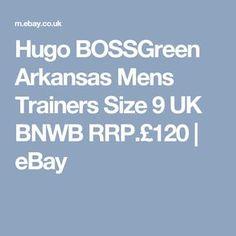 Hugo BOSSGreen Arkansas Mens Trainers Size 9 UK BNWB RRP.£120   eBay