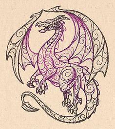 Tattoo Designs Dragon Urban Threads 16 New Ideas Ideas Quilling, Quilling Patterns, Machine Embroidery Designs, Embroidery Stitches, Embroidery Patterns, Urban Threads, Dragon Tattoo Designs, Dragon Design, Dragon Art