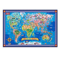 Ravensburger World Map Jigsaw Puzzle 200 Pieces Xxl Only Puzzle