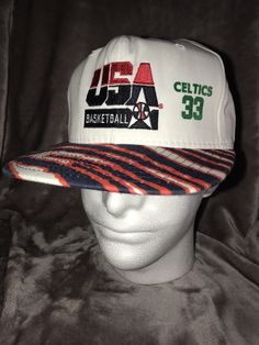 a26bbdd58e9 Vintage Deadstock 90 s Larry Bird Dream Team USA Basketball Zubaz Snapback  Hat Cap by RackRaidersVtg on