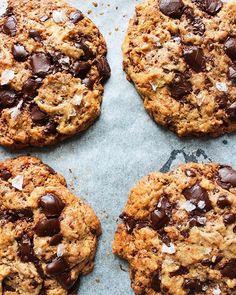 Tahini Coconut Chocolate Chip Cookies • TANIKA