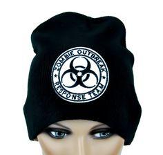 Zombie Outbreak Response Team Bio Hazard Beanie Hat - DYS-PA-243-WHT-Beanie