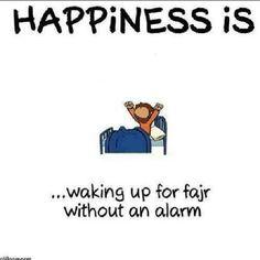 Happiness is waking up for FAJR without Alarm. Islam Beliefs, Islam Religion, Islam Muslim, Islam Quran, Islam Hadith, Beautiful Islamic Quotes, Islamic Inspirational Quotes, Muslim Quotes, Religious Quotes