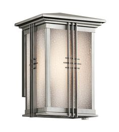 Kichler Lighting Portman Square 1 Light Outdoor Wall Lantern in Stainless Steel 49158SS #lightingnewyork #lny #lighting